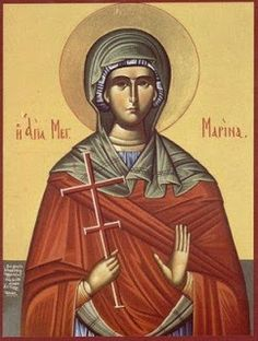 Marina the Great Martyr - Commemorated July 17 ( source ) The Prayer of St. Marina, before being beheaded for Christ (amateur tr. Ste Marguerite, St Margaret, Orthodox Christianity, Orthodox Icons, Saints, Prayers, July 17, Greek, Blog