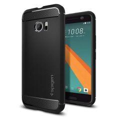 Köp stöttåligt svart skal från Spigen till HTC 10 online: http://www.phonelife.se/spigen-htc-10-rugged-armor-case-svart