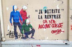 Quand le street artist Combo s'amuse avec la brigade anti-graffiti de Paris | Ufunk.net