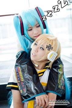 Miku and Len | Miku X Len - HEY by ~8bit-wonderland on deviantART