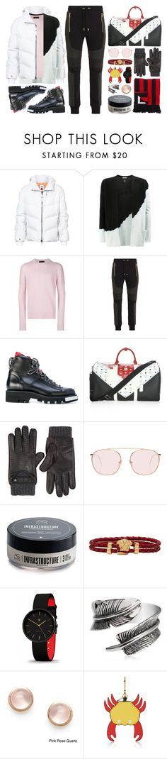"""★ 432: Whistler - Jake ♦ TS"" by yuuurei ❤ liked on Polyvore featuring KRU, Suzusan, Calvin Klein, Balmain, Dsquared2, MCM, Christophe Fenwick, Illesteva, AG Adriano Goldschmied and Versace"