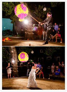 A wedding pinata would definitely add a fun element to your wedding.