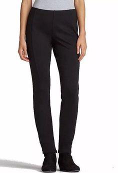 NWT Eileen Fisher Plus Black Slim Stretch Heavy Rayon Ponte Pants 3X #EileenFisher #SlimPontePants