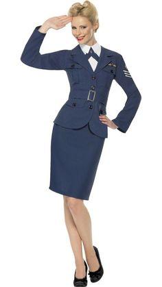1940's Women's Air Force Captain Costume