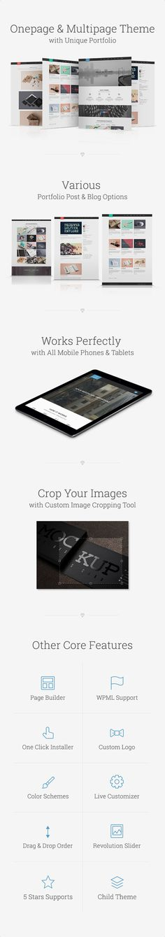 Frost - Multipurpose One Page WordPress Theme • Download theme ➝…