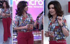 Look da Fátima Bernardes no Encontro dia 20 de maio