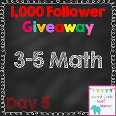 1,000 Follower Giveaway Day 5: Math 3-5