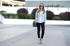 black and white outfit, M Loves M