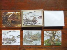 Vintage Current Inc. 12 Country Memories Cards in by Isisgoodsny