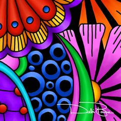 It's About Progress Flowers Close Up #1 by Debi Payne