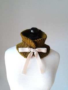 Cowl neck scarflette neck warmer neck scarf crochet by PlexisArt