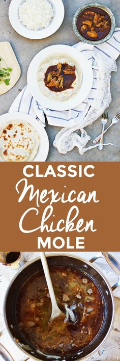 Classic Mexican Chicken Mole | how to make mexican chicken mole, homemade chicken mole recipe, authentic mexican recipes, mexican recipe ideas, homemade mexican recipes, chicken mole recipe || The Butter Half via @thebutterhalf