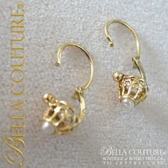 Bella Couture® - SOLD! - RARE Pristine! Gorgeous Fine Antique French Victorian circa 1838 18K Yellow Gold Salt Water White Pearl Earrings Jewelry Jewellery, $0.00 (http://www.bellacouture.com/sold-rare-pristine-gorgeous-fine-antique-french-victorian-circa-1838-18k-yellow-gold-salt-water-white-pearl-earrings-jewelry-jewellery/)
