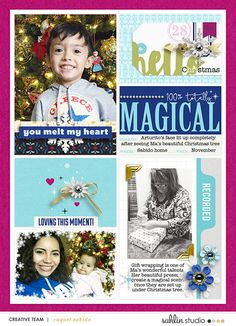 Holidays digital Project Life layout featuring Project Mouse: Ice by Britt-ish Designs and Sahlin Studio