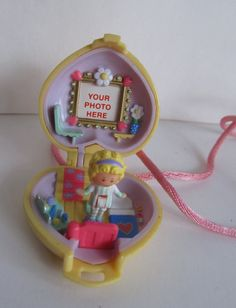 Image result for polly pockets of the 90s yellow heart necklace Polly Pocket, Nostalgia, Pockets, Yellow, Heart, Image, Hearts