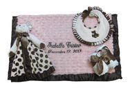 Every little  girl needs a personalized baby blanket. Buy this Bearington Bear personalized baby gift set and www.namelynewborn.com and get up to two free names on the baby blanket.
