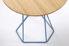 Ross Gardam | Detail of Asymmetry side table with Tasmanian oak top
