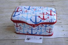 READY TO SHIP Nautcial Anchors in Red and by LauraLeeDesigns108