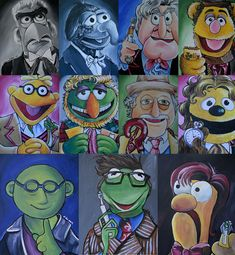 Muppets/ Doctor Who MashUp print by lisaleems on Etsy, $45.00