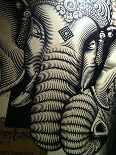 Ganesh, Hindu God of Prosperity. Ganesha Art, Lord Ganesha, Ganesha Tattoo, Elephant Love, Elephant Art, Elephant Stuff, Om Gam Ganapataye Namaha, Elephas Maximus, Wow Art