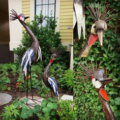 Swahili Fair Trade has outdone themselves - these graceful crested crown crane sculptures are welded from recycled metal in Zimbabwe. The perfect addition to Dad's garden! #crowncrane #fairtrade #recycled #zimbabwe #garden #gardenornament #metal #sculpture #greenthumb #fathersday #dad #pops #papa #june18th #happyfathersday #thanksdad #bestdadaward #shoplocal   www.nomadcambridge.com