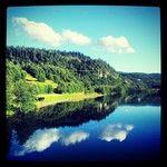 Instagram User: mymagicalmoments  #instanaturelover #visitnorway #natureonly #nature #adressa #opplevtrondelag #trees #nidelven #trondheim #naturelovers #clouds #tiller #river #visittrondheim #reflection