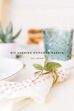 Table linens need a pick-me-up? Add a sashiko stitch for a little extra color and texture.