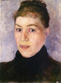Portrait of a Woman.c.1884 by Edvard Munch