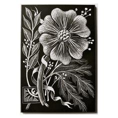 Original Scratchboard ACEO. $26.00, via Etsy. Scratchboard, Artist Trading Cards, Zentangle, Flower Art, Stencils, Art Cards, The Originals, Unique Jewelry, Handmade Gifts