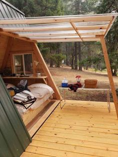 Star A-Frame Tiny Cabin - Best Picture For Garden Types yards For Your Taste You are looking for something, and it is going to tell you exactly what you are lookin Tiny Cabins, Tiny House Cabin, Tiny House Living, Tiny House Design, A Frame Cabin, A Frame House, Tiny House Movement, Backyard Buildings, Garden Types