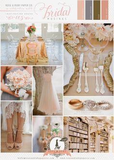 Romantic Wedding Color Scheme #rose #pink #gold