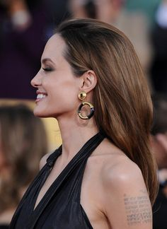 Angelina Jolie Off-the-Shoulder Dress - Angelina Jolie Looks - StyleBistro