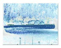 'Blau in blau pp' von Rudolf Büttner bei artflakes.com als Poster oder Kunstdruck $18.71