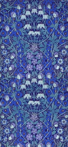 Morris had a profound influence on the aesthetic style of the Art Nouveau movement (another style I luuuurve). Textile Patterns, Textile Design, Fabric Design, Print Patterns, Pattern Design, Textiles, Deco Floral, Motif Floral, Floral Prints