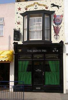 The Black Dog - Whitstable's Micro Pub. 66 High Street, Whitstable, England.  https://www.facebook.com/pages/The-Black-Dog-Whitstables-Micro-Pub/419868708067222?fref=ts. Design, layout, image creation and manipulation: Nigel Aono-Billson, client Mike McWilliam.