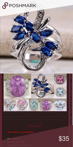 Infinity Sapphire Ring Brand New Boutique Quality Absolutely Stunning Additional information provided above Silver Plated for wear and shine longevity. If you have any questions please don't hesitate to ask 💕 Jewelry Rings