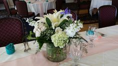 A photo of our centerpieces from the Mother's Day Luncheon at Willow Oaks Country Club! We hope all you Moms out there enjoyed your day!! #mothersday