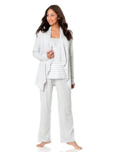 "Get a new nursing pj set that you love! This one is my favorite!! You feel actually ""put together"" while wearing it"