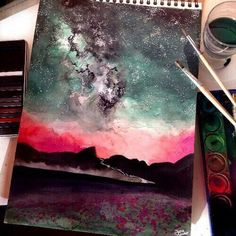 Image de art, drawing, and sky