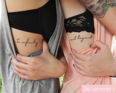 A most thorough guide on Best friend tattoos (BFF tattoos). They make a memorable gift which two friends can give to each other. - Part 5 Bff Tattoos, 3 Sister Tattoos, Girl Rib Tattoos, Mädchen Tattoo, Tatuajes Tattoos, Piercing Tattoo, Future Tattoos, Get A Tattoo, Tattoo Quotes