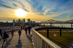 Louisville Big Four pedestrian bridge...waterfront park