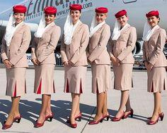 Emirates cabin crew uniforms