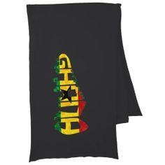 Ghana Football Soccer Cleat Calligram American Apparel Scarf Wraps