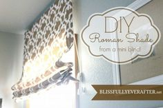 How to Make a Roman Shade from a $5 mini blind