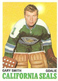 Shoebox Legends: Gary Smith from the California Golden Seals Hockey Goalie, Hockey Players, Ice Hockey, Hockey Cards, Baseball Cards, Nhl, Gary Smith, Goalie Mask, Star Wars