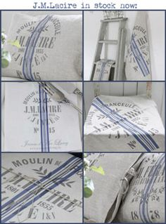 Lacire from Jeanne d'Arc Living~ Vintage Country, French Vintage, French Country, Country Charm, Shabby Chic, Blue And White, Romantic, Interiors, Personalized Items
