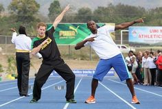 Prince Harry and Usain Bolt!