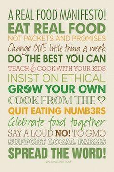 Real Food Manifesto