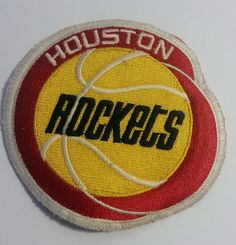 Houston Rockets Embroidered 90 s Style Jersey Patch From Actual Jersey   HoustonRockets Houston Rockets 97ba9a53855