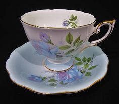 Royal Standard Fascination Tea Cup and Saucer Set Blue